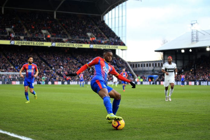 LONDON, ENGLAND - FEBRUARY 02: Aaron Wan-Bissaka of Crystal Palace during the Premier League match between Crystal Palace and Fulham FC at Selhurst Park on February 02, 2019 in London, United Kingdom. (Photo by Marc Atkins/Getty images)