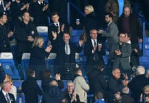 LEICESTER, ENGLAND - FEBRUARY 26: New Leicester City manager Brendan Rodgers is introduced to the crowd prior to the Premier League match between Leicester City and Brighton & Hove Albion at The King Power Stadium on February 26, 2019 in Leicester, United Kingdom. (Photo by Michael Regan/Getty Images)