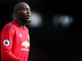 LONDON, ENGLAND - FEBRUARY 09: Romelu Lukaku of Manchester United during the Premier League match between Fulham FC and Manchester United at Craven Cottage on February 09, 2019 in London, United Kingdom. (Photo by Catherine Ivill/Getty Images)