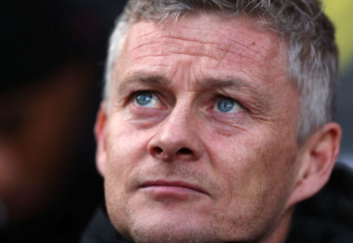 LONDON, ENGLAND - FEBRUARY 09: Ole Gunnar Solskjaer interim manager of Manchester United during the Premier League match between Fulham FC and Manchester United at Craven Cottage on February 09, 2019 in London, United Kingdom. (Photo by Catherine Ivill/Getty Images)