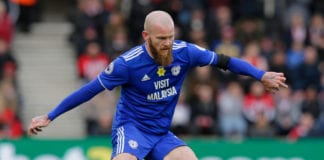 SOUTHAMPTON, ENGLAND - FEBRUARY 09: Aron Gunnarsson of Cardiff City during the Premier League match between Southampton FC and Cardiff City at St Mary's Stadium on February 9, 2019 in Southampton, United Kingdom. (Photo by Henry Browne/Getty Images)