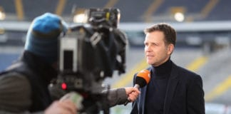 FRANKFURT AM MAIN, GERMANY - FEBRUARY 13: Teammmanager Oliver Bierhoff is seen during a academy workshop at Commerzbank-Arena on February 13, 2019 in Frankfurt am Main, Germany. (Photo by Christian Kaspar-Bartke/Getty Images)