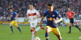 STUTTGART, GERMANY - FEBRUARY 16: Tyler Adams of RB Leipzig plays the ball during the Bundesliga match between VfB Stuttgart and RB Leipzig at Mercedes-Benz Arena on February 16, 2019 in Stuttgart, Germany. (Photo by Christian Kaspar-Bartke/Bongarts/Getty Images)