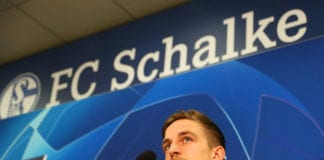 GELSENKIRCHEN, GERMANY - FEBRUARY 19: Bastian Oczipka looks on during a FC Schalke 04 press conference at Veltins Arena on February 19, 2019 in Gelsenkirchen, Germany. (Photo by Maja Hitij/Bongarts/Getty Images)
