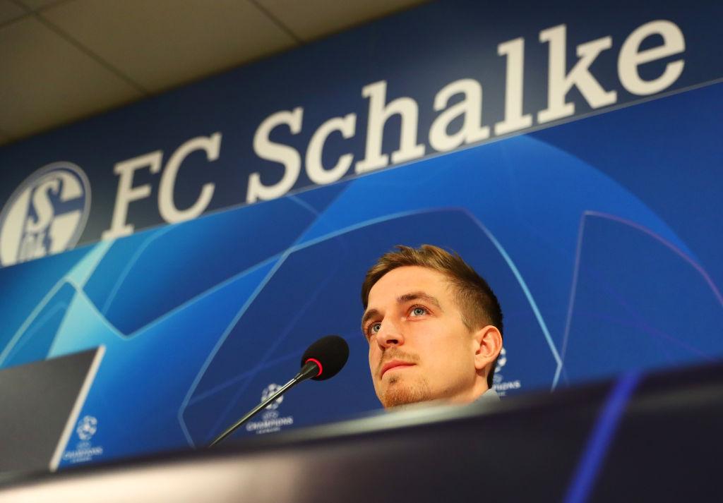 GELSENKIRCHEN, GERMANY - FEBRUARY 19: Bastian Oczipka looks on during a FC Schalke 04 press conference at Veltins Arena on February 19, 2019 in Gelsenkirchen, Germany. (Photo by Maja Hitij/Bongarts/Getty Images)