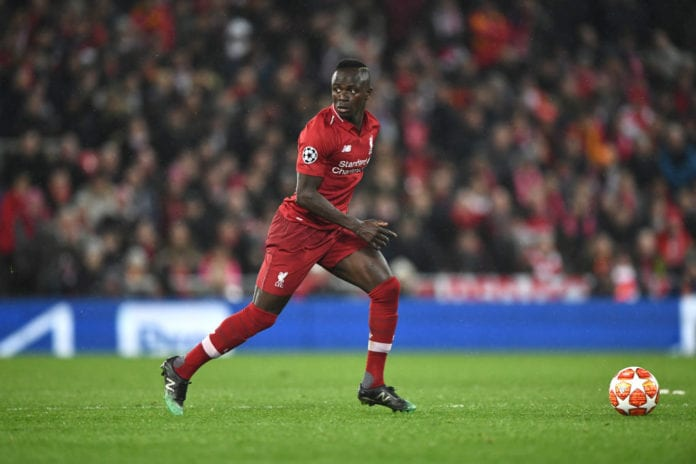 Liverpool v FC Bayern Muenchen - UEFA Champions League Round of 16: First Leg Sadio Mane