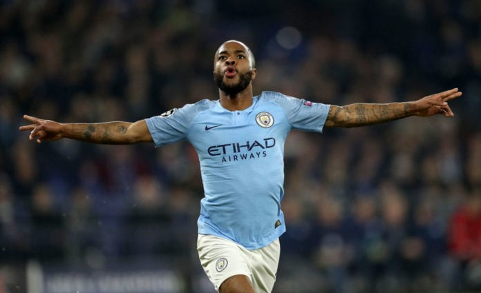 FC Schalke 04 v Manchester City - UEFA Champions League Round of 16: First Leg Sterling