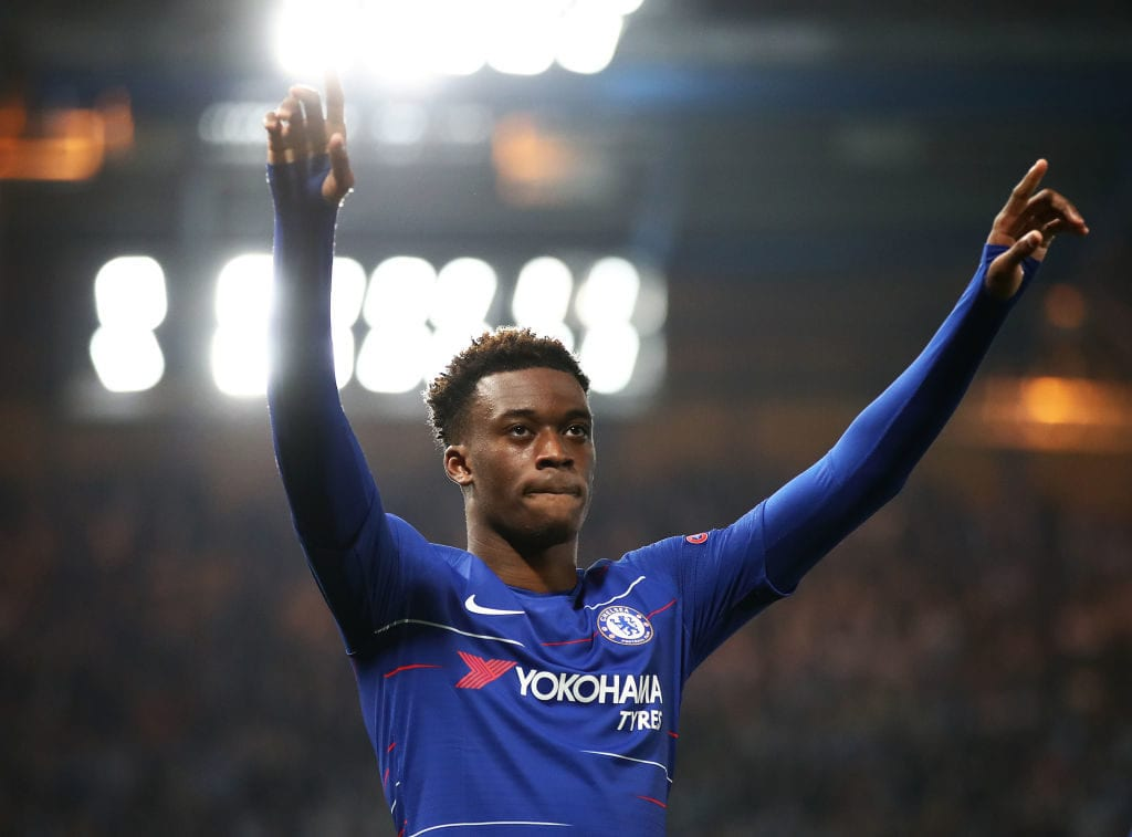 Chelsea v Malmo FF - UEFA Europa League Round of 32: Second Leg - Hudson Odoi