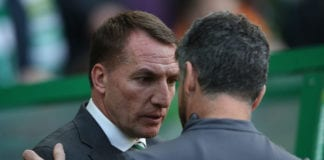 GLASGOW, SCOTLAND - FEBRUARY 24: Celtic manager Brendan Rodgers is seen during the Ladbrokes Premiership match between Celtic and Motherwell at Celtic Park on February 24, 2019 in Glasgow, United Kingdom. (Photo by Ian MacNicol/Getty Images)
