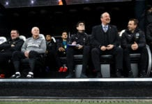 NEWCASTLE UPON TYNE, ENGLAND - FEBRUARY 26: Rafael Benitez, Manager of Newcastle United looks on prior to the Premier League match between Newcastle United and Burnley FC at St. James Park on February 26, 2019 in Newcastle upon Tyne, United Kingdom. (Photo by Clive Brunskill/Getty Images)