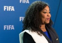 ZURICH, SWITZERLAND - OCTOBER 14: FIFA Secretary General Fatma Samoura poses for a photo after part II of the FIFA Council Meeting 2016 at the FIFA headquarters on October 14, 2016 in Zurich, Switzerland. (Photo by Philipp Schmidli/Getty Images)
