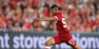 SYDNEY, AUSTRALIA - MAY 24: Rhian Brewster of Liverpool controls the ball during the International Friendly match between Sydney FC and Liverpool FC at ANZ Stadium on May 24, 2017 in Sydney, Australia. (Photo by Matt King/Getty Images)
