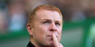 GLASGOW, SCOTLAND - SEPTEMBER 30: Hibernian manager Neil Lennon is seen during the Ladbrokes Scottish Premiership match between Celtic and Hibernian at Celtic Park Stadium on September 30, 2017 in Glasgow, Scotland. (Photo by Ian MacNicol/Getty Images)