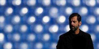 BARCELONA, SPAIN - JANUARY 20: Head coach Quique Sanchez Flores of RCD Espanyol looks on prior to the La Liga match between Espanyol and Sevilla at Nuevo Estadio de Cornella-El Prat on January 20, 2018 in Barcelona, Spain. (Photo by David Ramos/Getty Images)