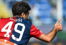 GENOA, ITALY - MAY 20: Giuseppe Rossi of Genoa during the serie A match between Genoa CFC and Torino FC at Stadio Luigi Ferraris on May 20, 2018 in Genoa, Italy. (Photo by Paolo Rattini/Getty Images)