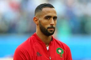 SAINT PETERSBURG, RUSSIA - JUNE 15: Mehdi Benatia of Morocco looks on during the 2018 FIFA World Cup Russia group B match between Morocco and Iran at Saint Petersburg Stadium on June 15, 2018 in Saint Petersburg, Russia. (Photo by Alex Livesey/Getty Images)