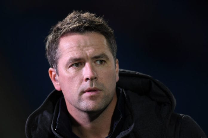 CHESTERFIELD, ENGLAND - OCTOBER 11: TV Pundit and former player Michael Owen looks on before the 2019 UEFA European Under-21 Championship Qualifier between England U21 and Andorra U21 at the Proact Stadium on October 11, 2018 in Chesterfield, England. (Photo by Laurence Griffiths/Getty Images)