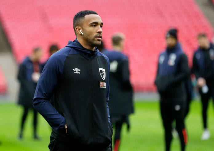 LONDON, ENGLAND - DECEMBER 26: Callum Wilson of AFC Bournemouth looks around the pitch as he arrives at the stadium ahead of the Premier League match between Tottenham Hotspur and AFC Bournemouth at Tottenham Hotspur Stadium on December 26, 2018 in London, United Kingdom. (Photo by Henry Browne/Getty Images)