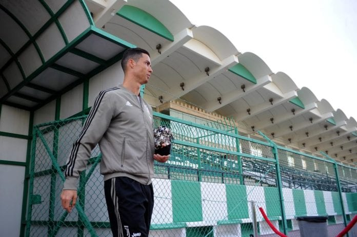 JEDDAH, SAUDI ARABIA - JANUARY 15: Cristiano Ronaldo of Juventus during the juventus training session - Italian Supercup previews on January 15, 2019 in Jeddah, Saudi Arabia. (Photo by Marco Rosi/Getty Images for Lega Serie A)