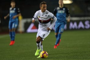 EMPOLI, ITALY - JANUARY 28: Domenico Criscito of Genoa CFC in action during the Serie A match between Empoli and Genoa CFC at Stadio Carlo Castellani on January 28, 2019 in Empoli, Italy. (Photo by Gabriele Maltinti/Getty Images)