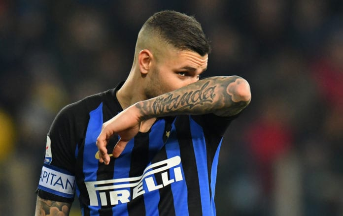 PARMA, ITALY - FEBRUARY 09: Mauro Icardi of FC Internazionale reacts during the Serie A match between Parma Calcio and FC Internazionale at Stadio Ennio Tardini on February 10, 2019 in Parma, Italy. (Photo by Alessandro Sabattini/Getty Images)