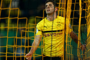 DORTMUND, GERMANY - FEBRUARY 05: Christian Pulisic of Dortmund is seen during the DFB Cup match between Borussia Dortmund and Werder Bremen at Signal Iduna Park on February 05, 2019 in Dortmund, Germany. (Photo by Lars Baron/Bongarts/Getty Images)