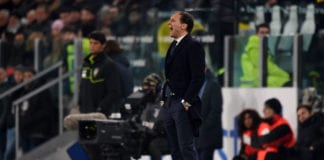 TURIN, ITALY - FEBRUARY 15: head coach Massimiliano Allegri of Juventus shouts during the Serie A match between Juventus and Frosinone Calcio on February 15, 2019 in Turin, Italy. (Photo by Tullio M. Puglia/Getty Images)