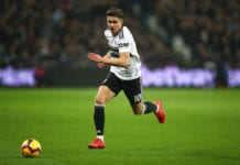 LONDON, ENGLAND - FEBRUARY 22: Tom Cairney of Fulham in action during the Premier League match between West Ham United and Fulham FC at London Stadium on February 22, 2019 in London, United Kingdom. (Photo by Julian Finney/Getty Images)