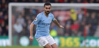BOURNEMOUTH, ENGLAND - MARCH 02: Ilkay Gundogan of Manchester City in action during the Premier League match between AFC Bournemouth and Manchester City at Vitality Stadium on March 02, 2019 in Bournemouth, United Kingdom. (Photo by Richard Heathcote/Getty Images)