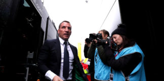 WATFORD, ENGLAND - MARCH 03: Brendan Rodgers, Manager of Leicester City arrives at the stadium ahead of the Premier League match between Watford FC and Leicester City at Vicarage Road on March 03, 2019 in Watford, United Kingdom. (Photo by Richard Heathcote/Getty Images)