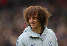LONDON, ENGLAND - MARCH 03: David Luiz of Chelsea during the Premier League match between Fulham FC and Chelsea FC at Craven Cottage on March 03, 2019 in London, United Kingdom. (Photo by Catherine Ivill/Getty Images)