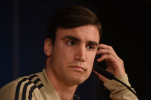MADRID, SPAIN - MARCH 04: Nicolas Tagliafico of Ajax gives his press conference ahead the UEFA Champions League Round of 16 Second Leg match of the UEFA Champions League between Real Madrid and Ajax at estadio Santiago Bernabeu on March 04, 2019 in Madrid, Spain. (Photo by Denis Doyle/Getty Images)