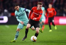 Stade Rennais v Arsenal - UEFA Europa League Round of 16: First Leg