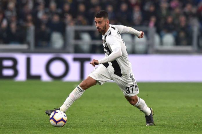 TURIN, ITALY - MARCH 08: Leonardo Spinazzola of Juventus in action during the Serie A match between Juventus and Udinese at Allianz Stadium on March 08, 2019 in Turin, Italy. (Photo by Tullio M. Puglia/Getty Images)