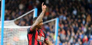 HUDDERSFIELD, ENGLAND - MARCH 09: Callum Wilson of AFC Bournemouth celebrates after scoring his team's first goal during the Premier League match between Huddersfield Town and AFC Bournemouth at John Smith's Stadium on March 09, 2019 in Huddersfield, United Kingdom. (Photo by Matthew Lewis/Getty Images)