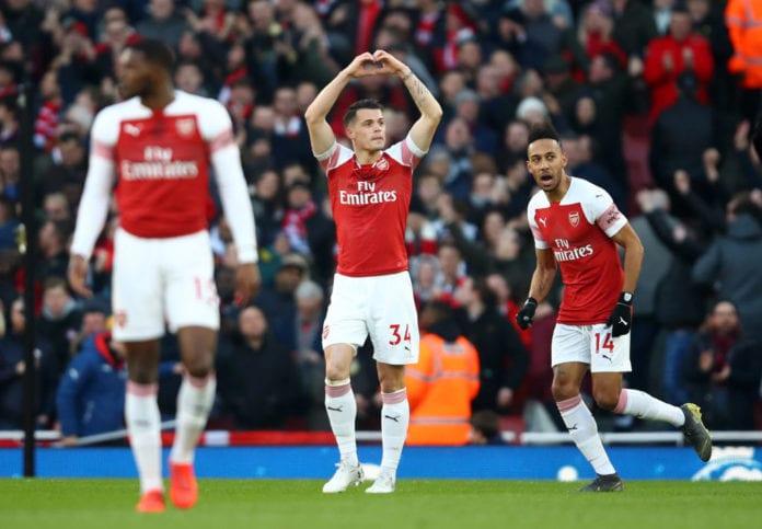 Arsenal FC v Manchester United - Premier League Xhaka