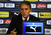 FLORENCE, ITALY - MARCH 18: Head coach of Italy Roberto Mancini attends an Italy press conference at Centro Tecnico Federale di Coverciano on March 18, 2019 in Florence, Italy. (Photo by Marco Luzzani/Getty Images)