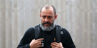 BURNLEY, ENGLAND - MARCH 30: Nuno Espirito Santo, Manager of Wolverhampton Wanderers arrives at the stadium prior to the Premier League match between Burnley FC and Wolverhampton Wanderers at Turf Moor on March 30, 2019 in Burnley, United Kingdom. (Photo by Alex Livesey/Getty Images)