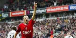 Michael Owen celebrates the 1st goal