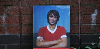 Floral Tributes at Old Trafford for George Best