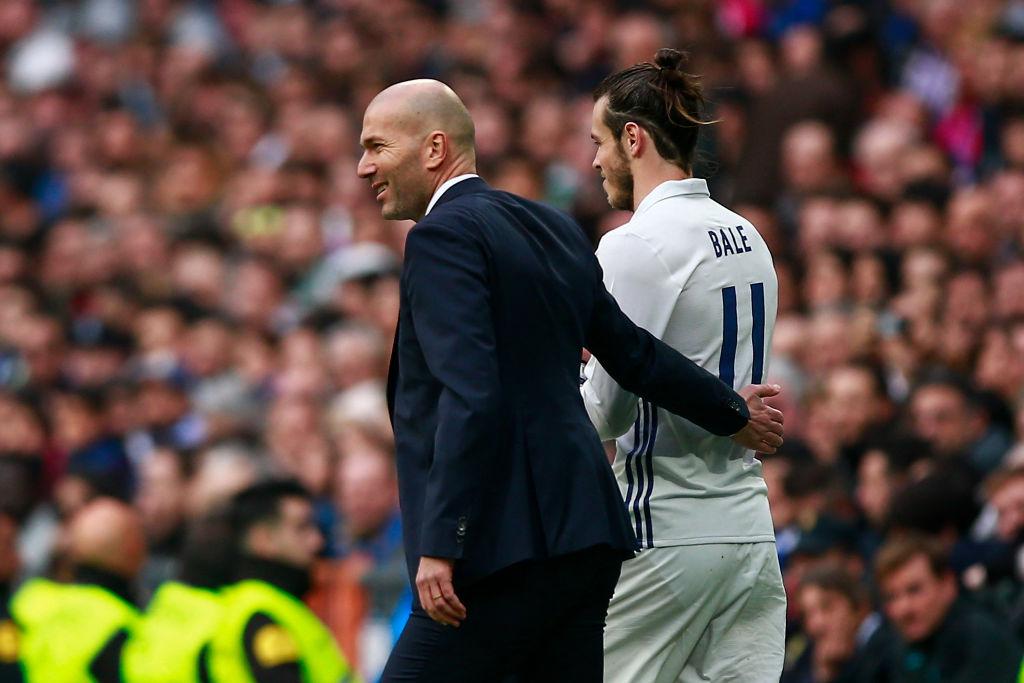 Zinedine Zidane, Gareth Bale, Real Madrid