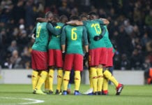 MILTON KEYNES, ENGLAND - NOVEMBER 20: Cameroon huddle prior to the International Friendly match between Brazil and Cameroon at Stadium mk on November 20, 2018 in Milton Keynes, England. (Photo by Pete Norton/Getty Images)