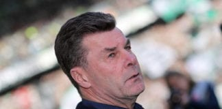 MOENCHENGLADBACH, GERMANY - FEBRUARY 23: Head coach Dieter Hecking of Moenchengladbach looks on prior to the Bundesliga match between Borussia Moenchengladbach and VfL Wolfsburg at Borussia-Park on February 23, 2019 in Moenchengladbach, Germany. (Photo by Christof Koepsel/Bongarts/Getty Images)