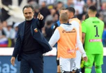 UDINE, ITALY - MARCH 30: Cesare Prandelli head coach of Genoa CFC greet his fans after the Serie A match between Udinese and Genoa CFC at Stadio Friuli on March 30, 2019 in Udine, Italy. (Photo by Alessandro Sabattini/Getty Images)