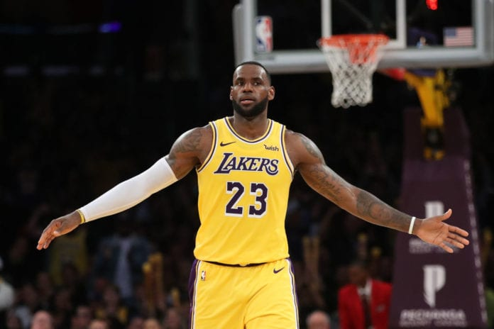 huge discount 35aef eb59e LOS ANGELES, CALIFORNIA - MARCH 04  LeBron James  23 of the Los Angeles