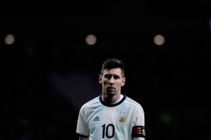 MADRID, SPAIN - MARCH 22: Lionel Messi reacts during the International Friendly match between Argentina and Venezuela at Estadio Wanda Metropolitano on March 22, 2019 in Madrid, Spain. (Photo by Gonzalo Arroyo Moreno/Getty Images) (Photo by Gonzalo Arroyo Moreno/Getty Images)
