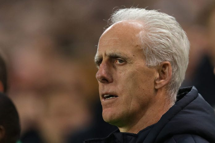 DUBLIN, IRELAND - MARCH 26: Mick McCarthy the Republic of Ireland manager looks on during the 2020 UEFA European Championships group D qualifying match between Republic of Ireland and Georgia at Aviva Stadium on March 26, 2019 in Dublin, Ireland. (Photo by Catherine Ivill/Getty Images)