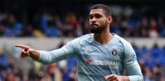 CARDIFF, WALES - MARCH 31: Ruben Loftus-Cheek of Chelsea celebrates after he scores his sides second goal during the Premier League match between Cardiff City and Chelsea FC at Cardiff City Stadium on March 31, 2019 in Cardiff, United Kingdom. (Photo by Stu Forster/Getty Images)