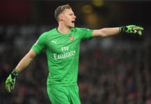 LONDON, ENGLAND - APRIL 01: Bernd Leno of Arsenal looks on during the Premier League match between Arsenal FC and Newcastle United at Emirates Stadium on April 01, 2019 in London, United Kingdom. (Photo by Michael Regan/Getty Images)