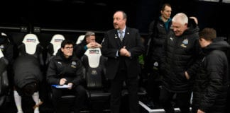 NEWCASTLE UPON TYNE, ENGLAND - APRIL 06: Newcastle manager Rafa Benitez looks on before the Premier League match between Newcastle United and Crystal Palace at St. James Park on April 06, 2019 in Newcastle upon Tyne, United Kingdom. (Photo by Stu Forster/Getty Images)